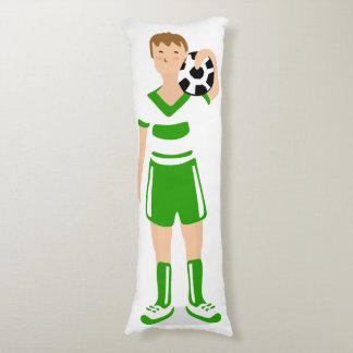 Almohada del cuerpo del verde del muchacho del