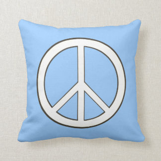 Almohada del dibujo de esquema del signo de la paz