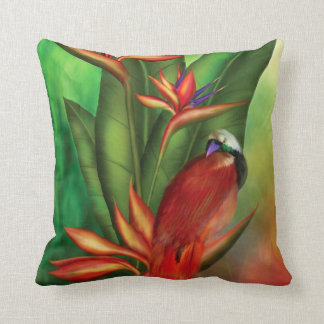 Almohada del diseñador del arte de las aves del pa