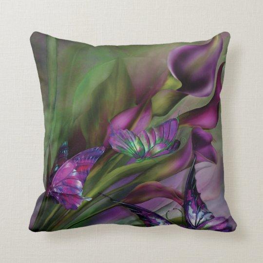 Almohada del diseñador del arte de las calas cojín decorativo