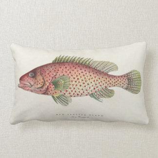 Almohada del diseño de los pescados del vintage cojín lumbar