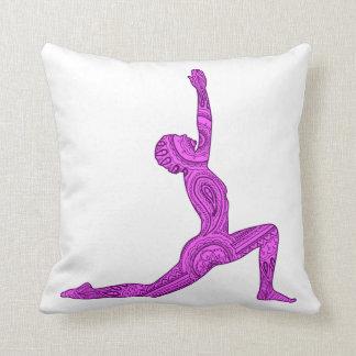 Almohada del diseño de Mehndi de la Creciente-Luna