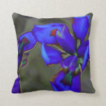 almohada del diseño, iris azul salvaje