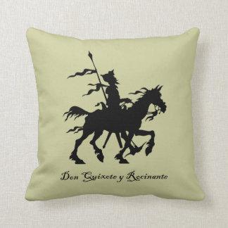 Almohada del Don Quijote y Rocinante