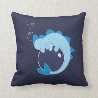 Almohada del dragón de agua el dormir cojín decorativo