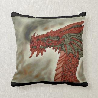 Almohada del dragón del volcán cojín decorativo