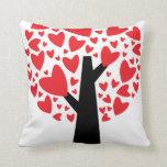 Almohada del el día de San Valentín del árbol del