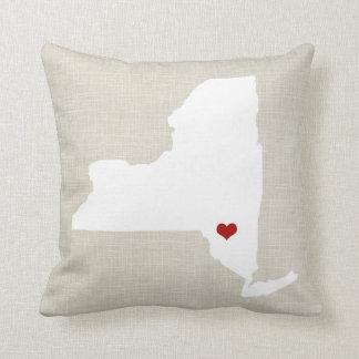 Almohada del Estado de Nuevo York personalizada