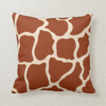 Almohada del estampado de girafa