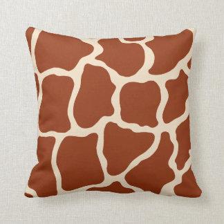 Almohada del estampado de girafa cojín decorativo