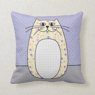 Almohada del gato popular amarillo