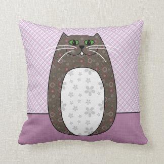 Almohada del gato popular gris