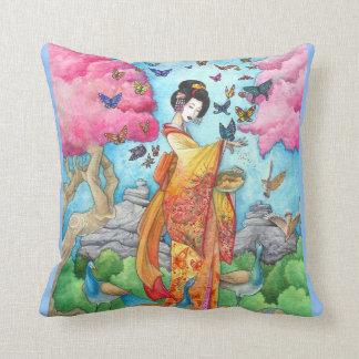 Almohada del geisha de la mariposa de Maiko del ve