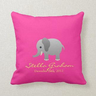 Almohada del gris del rosa del elefante de Stella