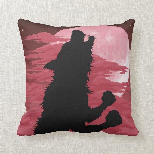 Almohada del hombre lobo del grito