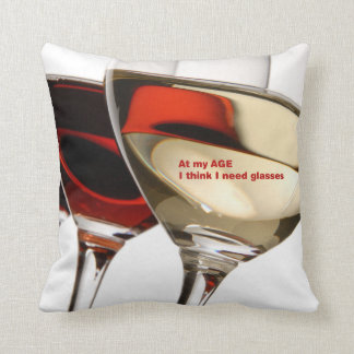 Almohada del humor de la copa de vino