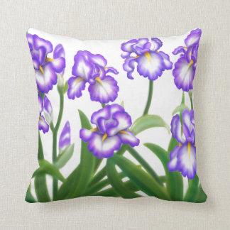Almohada del jardín del iris de la primavera