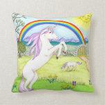 Almohada del jardín del unicornio