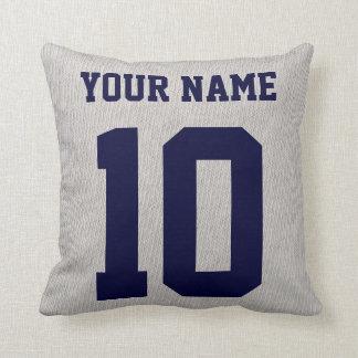 Almohada del jersey de los deportes del nombre y d