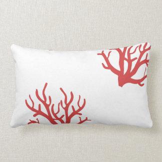 Almohada del lanzamiento del coral rojo