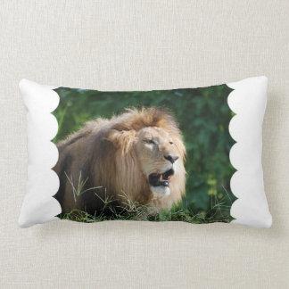 Almohada del león el gruñir