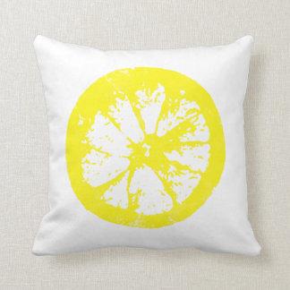 Almohada del limón de la rebanada de la fruta