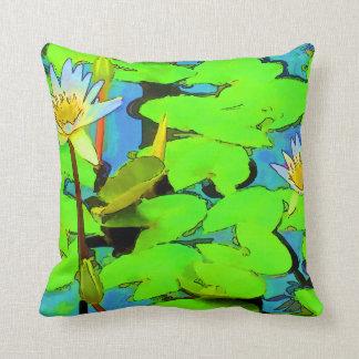 Almohada del lirio de agua cojín decorativo