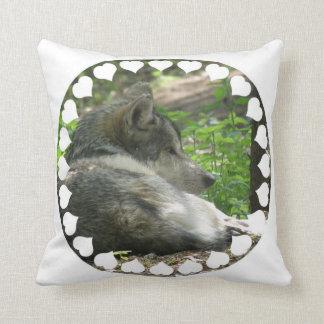 Almohada del lobo de madera
