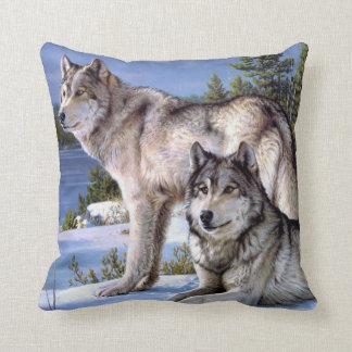 Almohada del lobo del invierno
