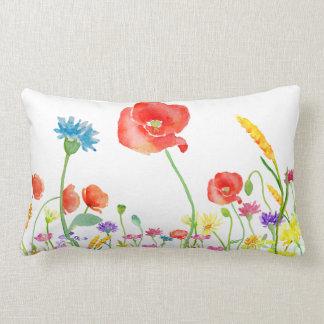 almohada del lumbar de la acuarela de la flor de cojín lumbar