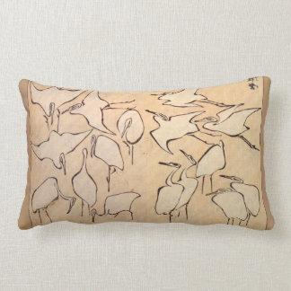 Almohada del Lumbar de la grúa de Hokusai