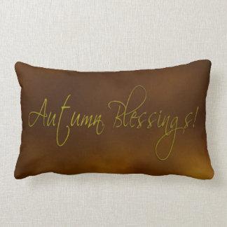 Almohada del Lumbar de las bendiciones del otoño Cojín Lumbar