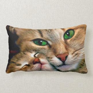 Almohada del Lumbar de los amantes del gato