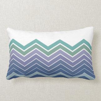 Almohada del Lumbar de los colores azules y verdes