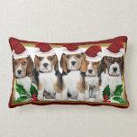 Almohada del lumbar de los perritos del beagle del cojín lumbar