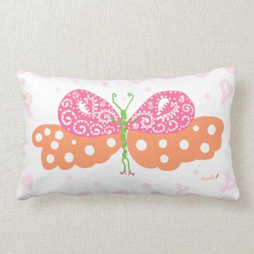 Almohada del lumbar de Papillon de la chica marcho