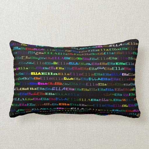 Almohada del Lumbar del diseño I del texto de Ella