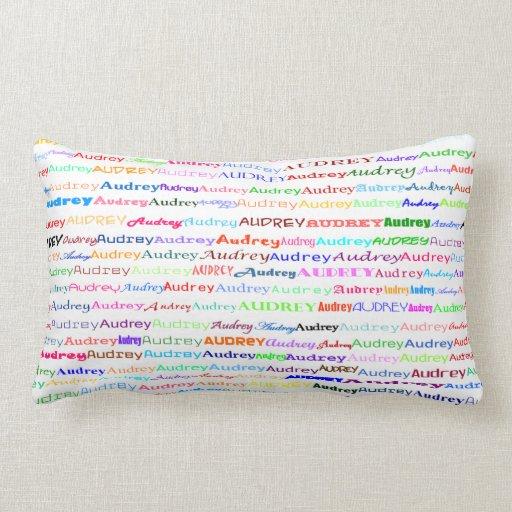 Almohada del Lumbar del diseño II del texto de Aud
