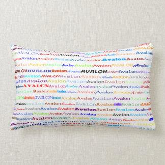 Almohada del Lumbar del diseño II del texto de Ava