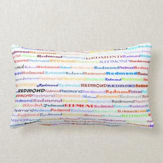Almohada del Lumbar del diseño II del texto de