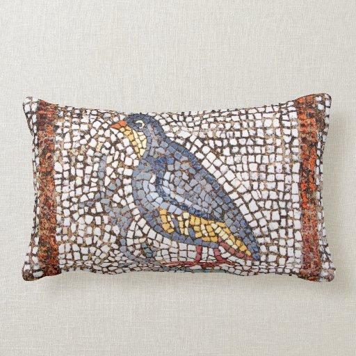 Almohada del Lumbar del mosaico del pájaro de Kos