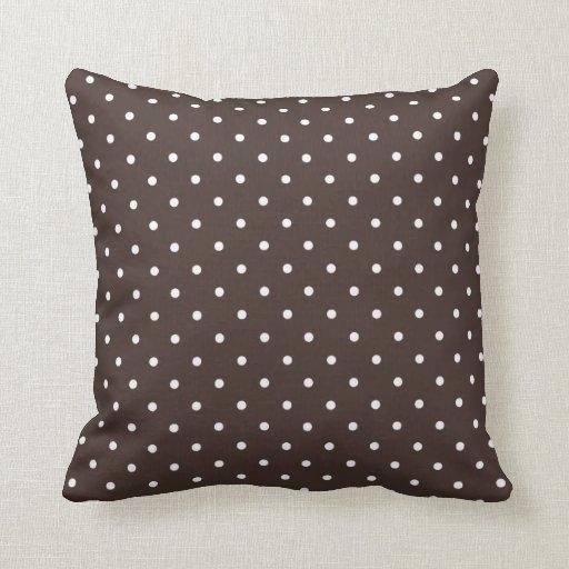 Almohada del lunar de Brown del café del estilo de