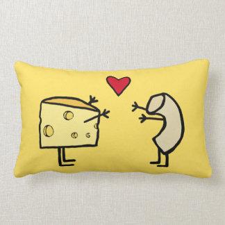 Almohada del mac y del queso cojín lumbar
