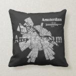 Almohada del mapa de Amsterdam