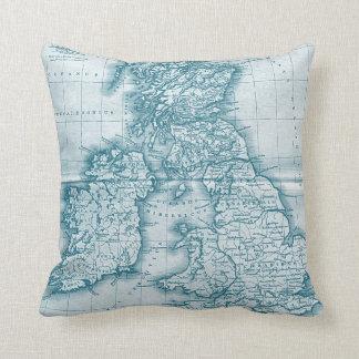 Almohada del mapa de la antigüedad del Viejo Mundo