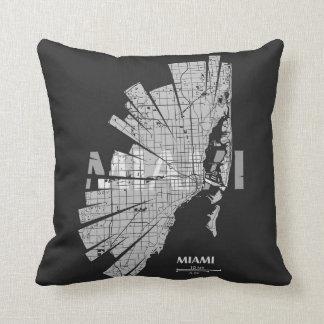 Almohada del mapa de Miami