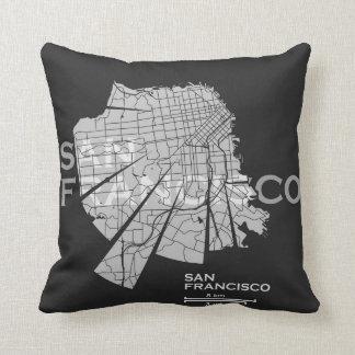 Almohada del mapa de San Francisco