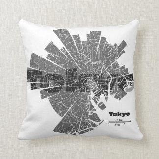 Almohada del mapa de Tokio