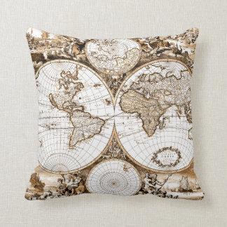 Almohada del mapa de Viejo Mundo