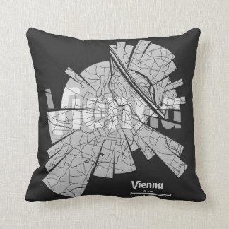Almohada del mapa de Viena